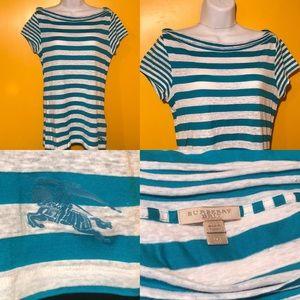 💗BURBERRY BRIT Women's Short Sleeve Shirt Size M